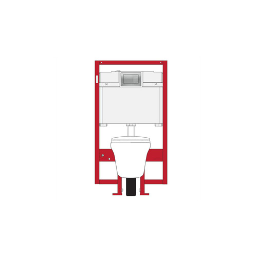 TOTO CWT486MFG-2#01 Maris DuoFit Wall Hung Elongated Toilet & In-Tank System