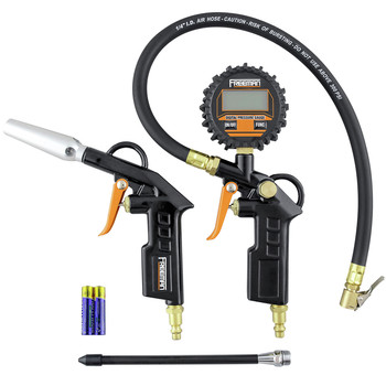 Freeman FATDTIBGK Digital Tire Inflator and High Flow Blow Gun Kit