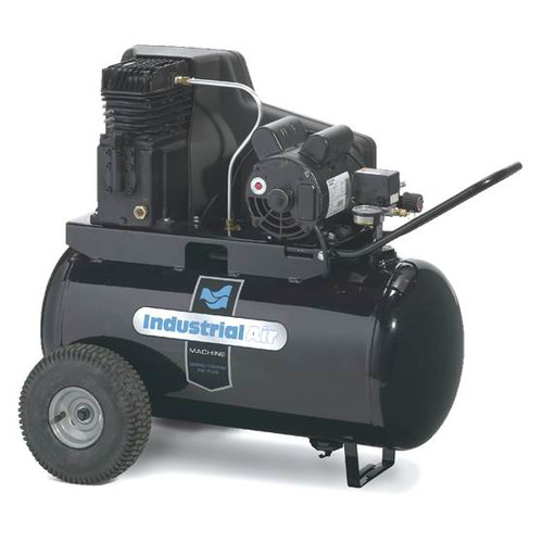 Industrial Air IPA1882054 1.9 HP 20 Gallon Oil Lubricated Wheeled Electric Air Compressor