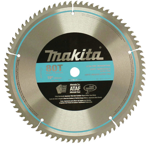 Makita A-93681 10 in. 80 Tooth Fine Crosscutting Miter Saw Blade