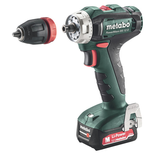 Metabo 601037620 BS 12 Quick 12V Lithium-Ion 3/8 in. Cordless Drill Driver Kit (2 Ah) image number 5