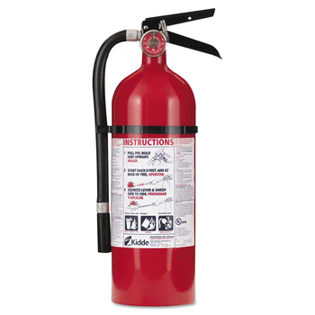 Kidde PRO 210 4 lbs. 2A:10-B:C Rated Rechargeable Fire Extinguisher