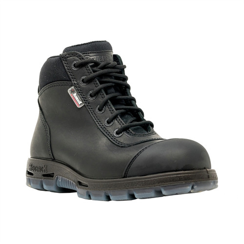 REDBACK BOOTS USA USCBZS8 Sentinel HD 6 in. Heavy Duty Steel Toe Boots - Size 9 US/Size 8 UK, Black image number 0