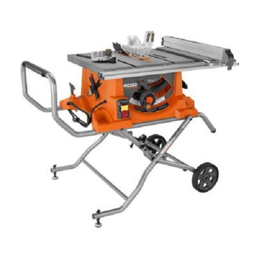 Factory Reconditioned Ridgid ZRR4513 15 Amp 10 in. Portable Table Saw with Mobile Stand image number 0