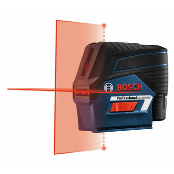 Bosch GCL100-80C 12V Cross-Line Laser with Plumb Points image number 2