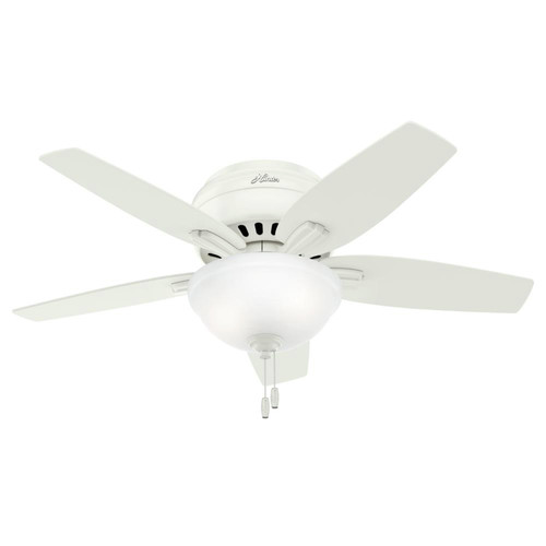 Hunter 51080 42 in. Newsome Fresh White Ceiling Fan with Light