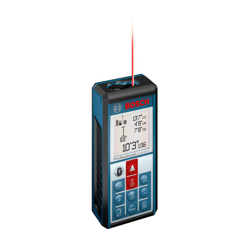 Bosch GLM100C Bluetooth Enabled 330 ft. Lithium-Ion Laser Distance and Angle Measurer