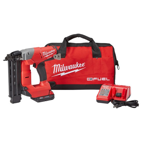 Milwaukee 2740-21CT FUEL M18 18V Cordless Lithium-Ion 18-Gauge Brushless Brad Nailer Kit