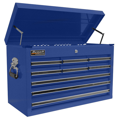 Homak BL02092601 27 in. 9 Drawer Professional Top Chest (Blue)