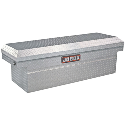 JOBOX JAC1389980 Aluminum Single Lid Deep & Extra-Wide Full-size Crossover Truck Box (ClearCoat)