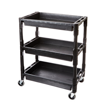 ATD 7017 3-Shelf Heavy-Duty Plastic Utility Cart image number 0