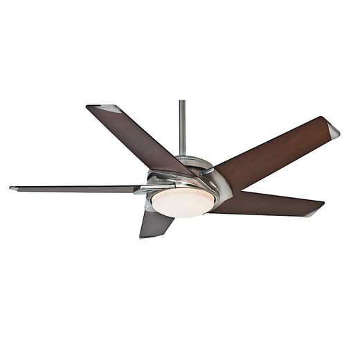Casablanca 59090 54 in. Contemporary Stealth Brushed Nickel Dark Walnut Indoor Ceiling Fan