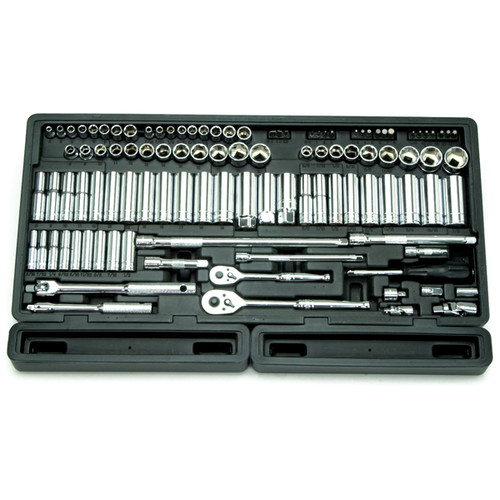 ATD 1380 106-Piece 1/4 in. and 3/8 in. Drive 6-Point SAE/Metric Chrome Master Socket Set image number 0