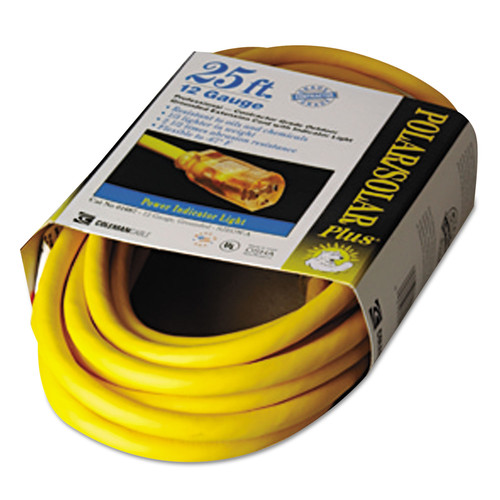 CCI 16870002 25 ft. Polar/solar Lighted End Indoor-Outdoor Extension Cord