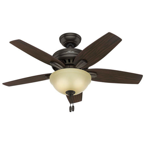 Hunter 51087 42 in. Newsome Premier Bronze Ceiling Fan with Light