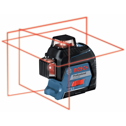 Factory Reconditioned Bosch GLL3-300-RT 360 Degrees Three-Plane Leveling and Alignment-Line Laser