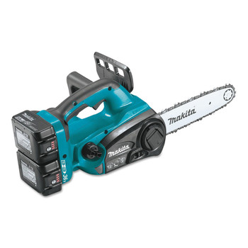 Makita XCU02PTX1 18V X2 (36V) LXT 5.0 Ah Cordless Lithium-Ion Chain Saw and Angle Grinder Combo Kit image number 1
