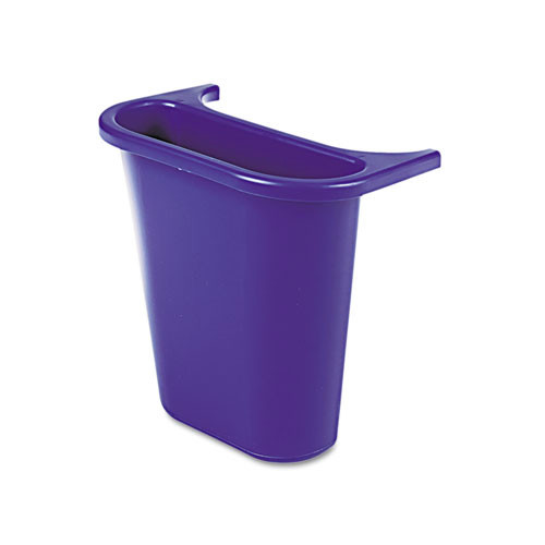 Rubbermaid 295073BE 4.75 qt. Attachable Side Wastebasket Recycling Bin (Blue)
