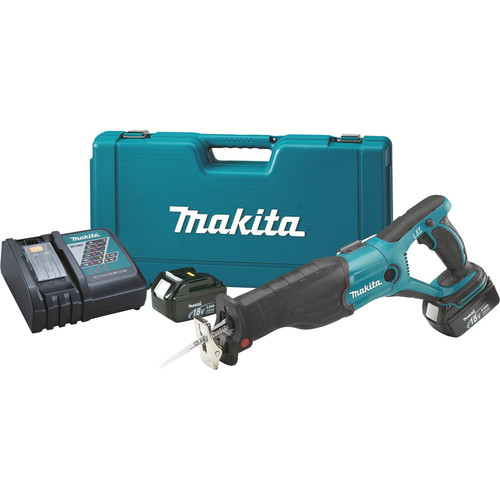 Makita XRJ02 LXT 18V 3.0 Ah Cordless Lithium-Ion Reciprocating Saw Kit
