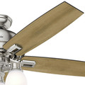 Hunter 53338 52 in. Donegan Brushed Nickel Ceiling Fan with Light image number 4
