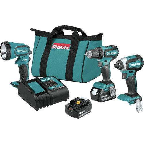 Makita XT335S 18V LXT 3.0 Ah Lithium-Ion Brushless 3-Piece Combo Kit image number 0