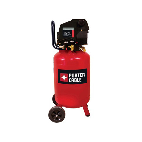 Porter Cable Pxcmf220vw 1 5 Hp 20 Gallon Oil Free Vertical Portable Air Compressor Cpo Outlets