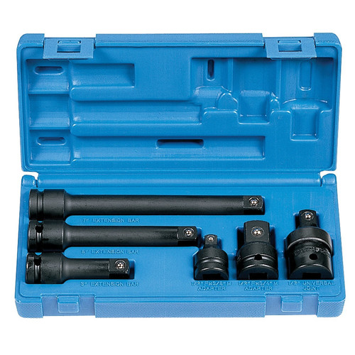 Grey Pneumatic 2200 6-Piece 1/2 in. Drive SAE Impact Adapter & Extension Set image number 0