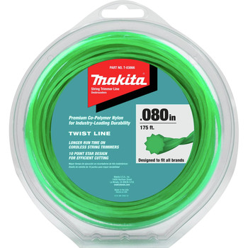 Makita T-03866 0.080 in. 175 ft. Twisted Trimmer Line - Green