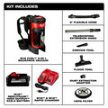 Milwaukee 0885-21HD M18 FUEL 3-in-1 Backpack Vacuum High Demand Kit image number 10