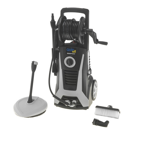 Quipall 2000EPWKIT 2000 PSI Electric Pressure Washer with Accessory Kit and Built-in Detergent Bottle, 1.15 GPM image number 0