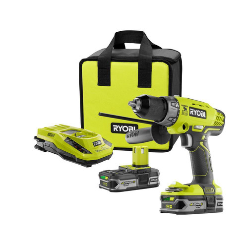 Factory Reconditioned Ryobi ZRP1812 ONEplus 18V Cordless Lithium-Ion 1/2 in. Hammer Drill Driver Kit