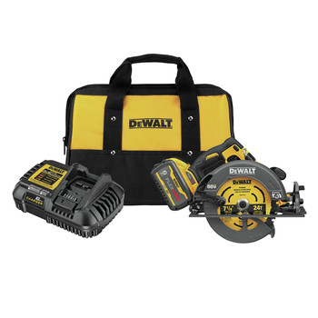 Dewalt DCS578X1 FLEXVOLT 60V MAX Brushless Lithium-Ion 7-1/4 in. Cordless Circular Saw Kit with Brake and (1) 9 Ah Battery