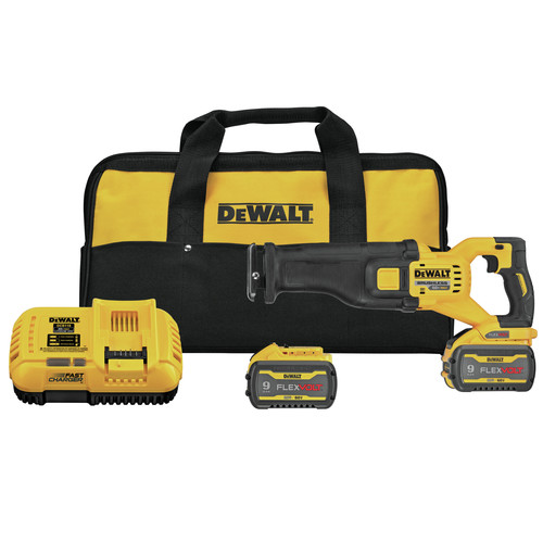 Dewalt DCS389X2 FLEXVOLT 60V MAX Brushless Lithium-Ion 1-1/8 in. Cordless Reciprocating Saw Kit with (2) 9 Ah Batteries image number 0