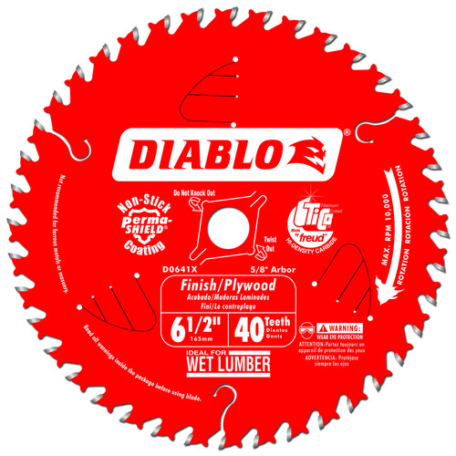 Diablo D0641X 6-1/2 in. 40 Tooth Finishing Saw Blade