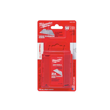 Milwaukee 48-22-1953 Drywall Utility Knife Blades with Dispenser (50-Pack) image number 2