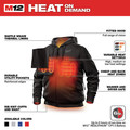Milwaukee 302B-203X M12 12V Li-Ion Heated Hoodie (Jacket Only) - 3XL image number 3