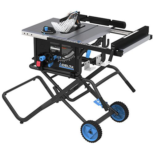 Delta 36-6022 10 in. Left Tilt Table Saw 30 in. Rip with Folding Stand and Wheels