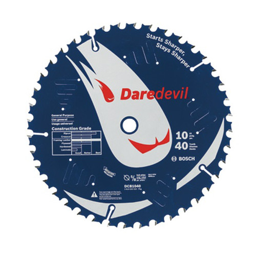 Bosch DCB1040 Daredevil 10 in. 40 Tooth General Purpose Circular Saw Blade