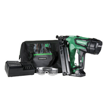 Factory Reconditioned Metabo HPT NT1865DMAM 18V 15 Gauge Cordless Brushless Lithium-Ion Brad Nailer Kit