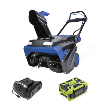 Snow Joe ION100V-21SB 100V 5 Ah Li-Ion 21 in. Variable Speed Single Stage Snow Blower image number 0