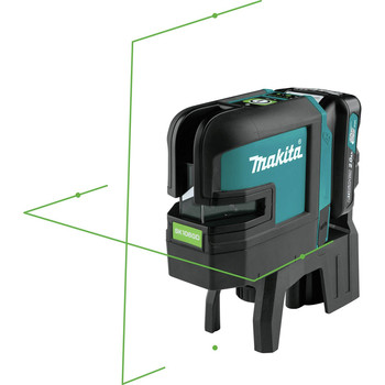 Makita SK106GDNAX 12V max CXT Lithium-Ion Cordless Self-Leveling Cross-Line/4-Point Green Beam Laser Kit (2 Ah) image number 9