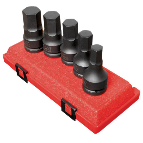 Sunex 4506 5-Piece 3/4 in. Hex Drive SAE Impact Socket Set