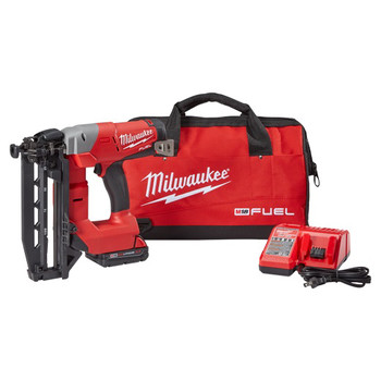 Factory Reconditioned Milwaukee 2741-81CT M18 FUEL Cordless Lithium-Ion 16-Gauge Brushless Straight Finish Nailer Kit image number 0