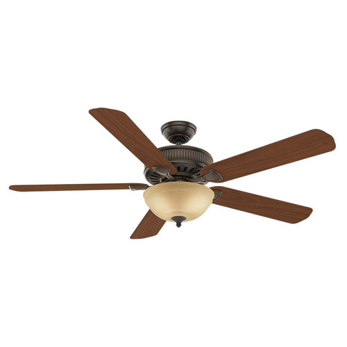 Casablanca 55006 Ainsworth Gallery 60 in. Traditional Onyx Bengal Distressed Walnut Indoor Ceiling Fan