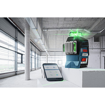 Bosch GLL3-330CG 360-Degrees Connected Green-Beam Three-Plane Leveling and Alignment-Line Laser image number 4
