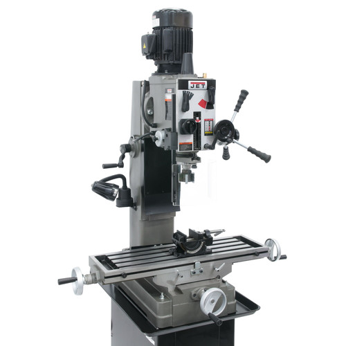 JET 351158 JMD-45GH Geared Head Square Column Mill Drill with Newall DP500 2-Axis DRO