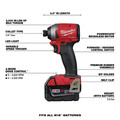 Milwaukee 2998-25 M18 FUEL Brushless Lithium-Ion Cordless 5-Tool Combo Kit (5 Ah) image number 3