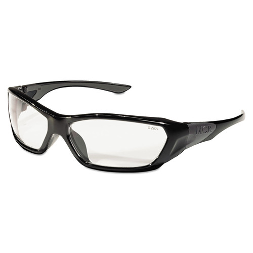 MCR Safety FF120 ForceFlex Black Frame Safety Glasses - Clear Lens image number 0