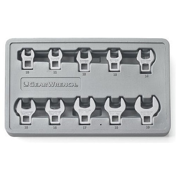GearWrench 81909 10-Piece Metric Crowfoot Wrench Set