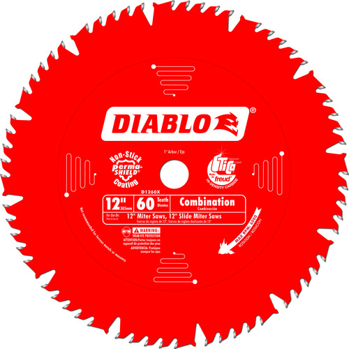 Diablo D1260X 12 in. 60 Tooth Combination Saw Blade